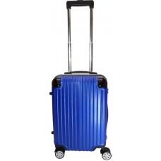 Handbagage koffer 53cm 4 dubbele wielen trolley - Blauw